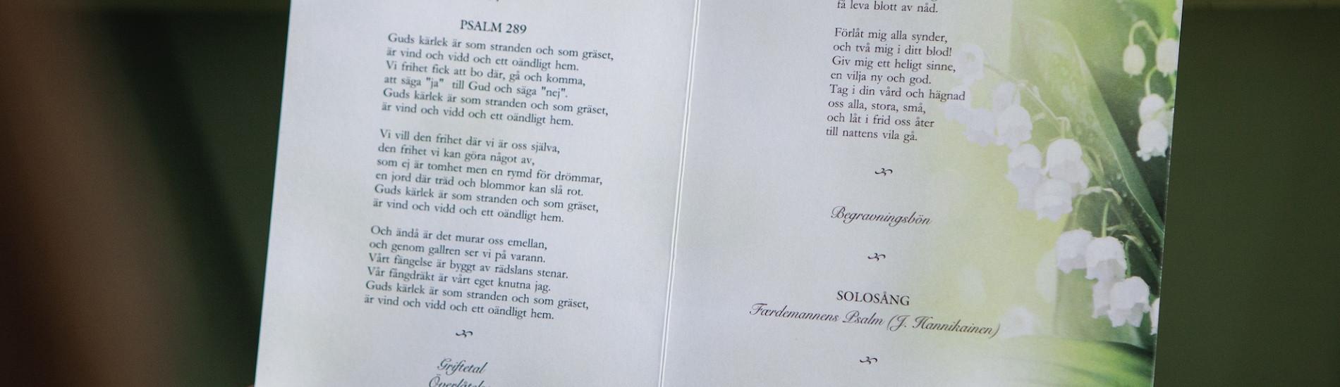 psalmer till begravning